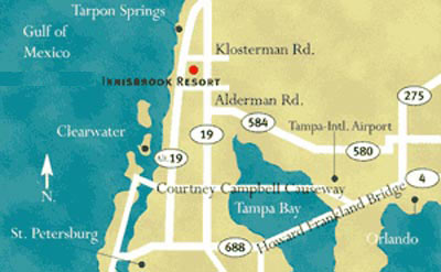 Innisbrook Resort in Tampa - Florida golf resort information ... on doral resort map, kirkwood resort map, copperhead course map, pinehurst resort map,